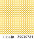 日本の伝統色、うこん色の四つ葉のクローバーのチェック風柄パターン、布、壁紙、風呂敷、背景素材イラスト 29030784