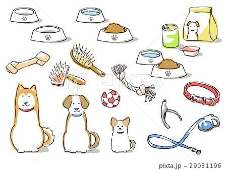 犬と犬用品(影付き) 29031196