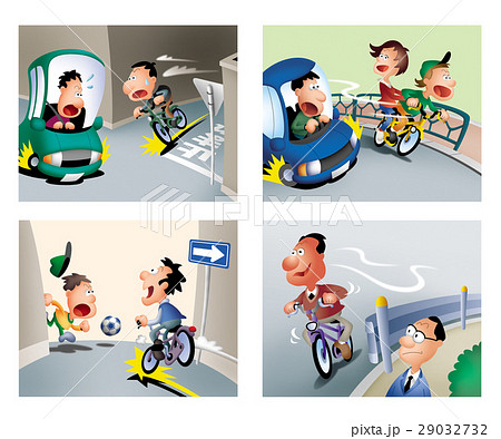 自転車の走行マナー、自転車交通安全、自転車の走行ルール 29032732