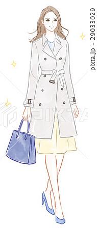トレンチコートを着た女性 29033029
