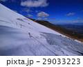 吉田口登山道5合目泉ヶ滝からの雪山富士山 29033223