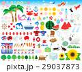 夏のイラストセット 29037873