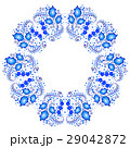Floral pattern in Gzhel in kaleidoscope effect 29042872