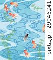 流水紋と金魚 29046241