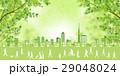 新緑 住宅街 町並みのイラスト 29048024