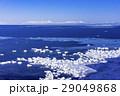 能取岬の流氷と知床連山 29049868