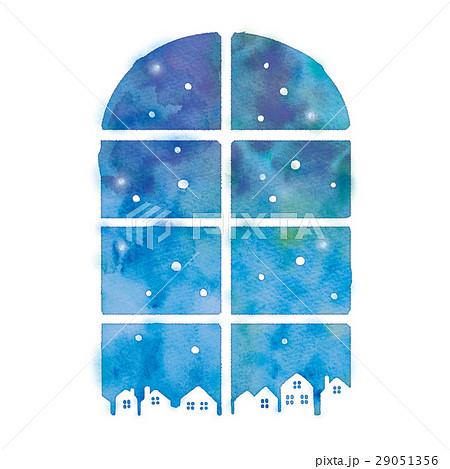 冬の窓のイラストのイラスト素材 [29051356] - PIXTA