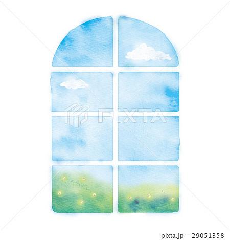 朝の窓のイラスト 29051358