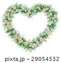 バラ ハート リースのイラスト 29054532