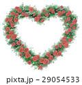 バラ ハート リースのイラスト 29054533