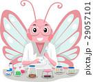 桃色 チョウ 蝴蝶のイラスト 29057101