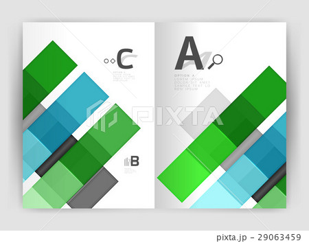 Squares and rectangles a4 brochure templateのイラスト素材 [29063459] - PIXTA