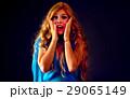 ショック 女性 叫ぶの写真 29065149