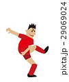 ボールを蹴るサッカー選手、フットボール 29069024