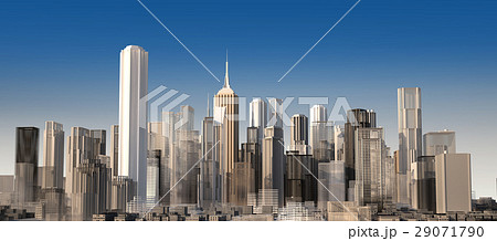 Modern cityscape in daylight. Close up view. 29071790