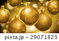 Christmass abstract background with big golden decorated balls in foreground. 29071823