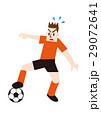 ディフェンスをするサッカー選手、フットボール 29072641