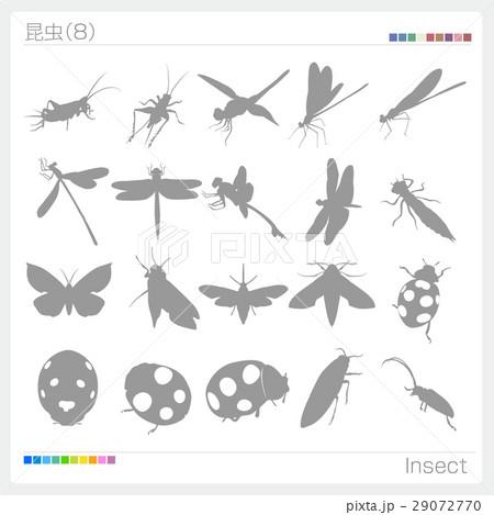 昆虫 シルエット 29072770