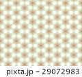 黄緑系、和柄、6枚花びら、星形、六角形、桜割り連続模様イラスト 29072983