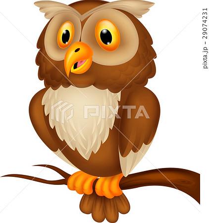 Cute owl cartoon 29074231 pixta cute owl cartoon voltagebd Image collections