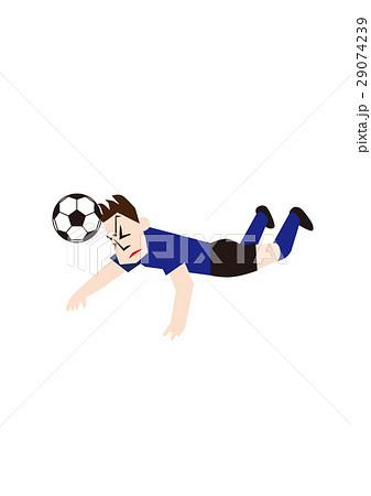 ダイビングヘッドするサッカー選手、フットボール 29074239