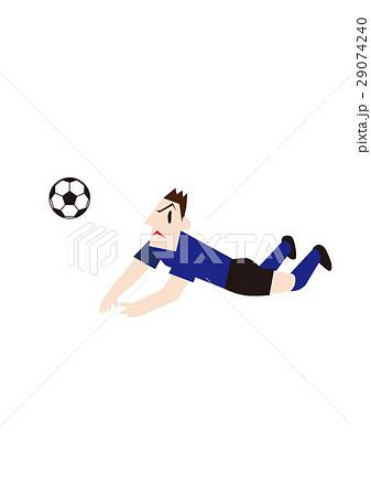 ダイビングヘッドするサッカー選手、フットボール 29074240
