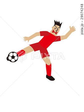 ボレーシュートをするサッカー選手、フットボール 29074248
