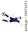 ダイビングボレーシュートを決めるサッカー選手、フットボール 29074251