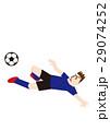 ダイビングボレーシュートを決めるサッカー選手、フットボール 29074252