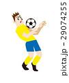 胸トラップをするサッカー選手、フットボール 29074255