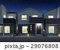 住宅 一戸建て 一軒家のイラスト 29076808