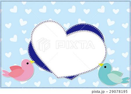 ポストカード フォトフレーム 小鳥とハート 29078195