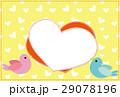 ポストカード フレーム 小鳥のイラスト 29078196