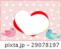 ポストカード フレーム 小鳥のイラスト 29078197