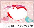 ポストカード フレーム 小鳥のイラスト 29079376