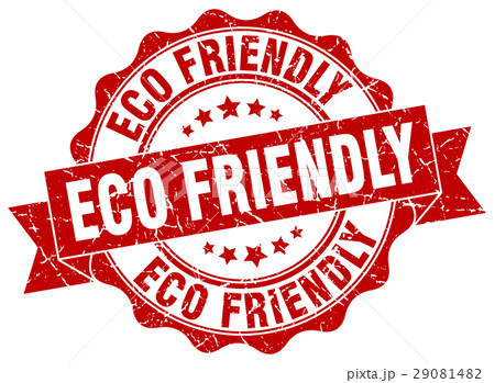 eco friendly stamp. sign. seal 29081482