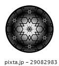 オーガンジー風イメージ、和柄、花びら、星、北斎さくらワリ桜割りモチーフアレンジイラスト 29082983
