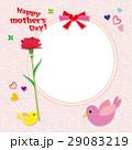 小鳥とカーネーション フォトフレーム 29083219