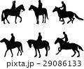騎手 馬術 馬のイラスト 29086133