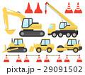 建設機械のイラストセット 29091502