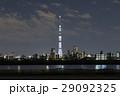 東京スカイツリー「白色のライティング」と墨田区周辺のスカイライン_a 29092325