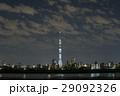東京スカイツリー「白色のライティング」と墨田区周辺のスカイライン_b 29092326