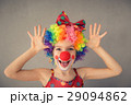 Funny kid clown playing indoor 29094862