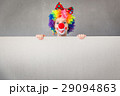 Funny kid clown playing indoor 29094863