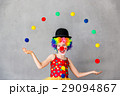 Funny kid clown playing indoor 29094867