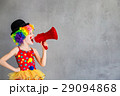 Funny kid clown playing indoor 29094868