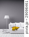 Modern room in minimalistic style with sofa 29096461