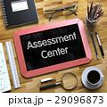 Assessment Center Concept on Small Chalkboard. 3D. 29096873