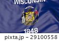 ウィスコンシン州 旗 フラッグのイラスト 29100558