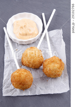 mashed potato pops and spicy mayonnaiseの写真素材 [29102766] - PIXTA